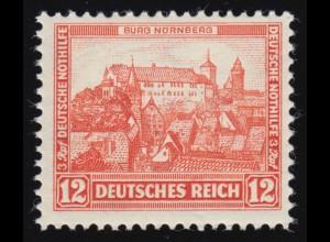 476 Nothilfe Burgen und Schlösser 12+3 Rpf **