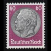493 Hindenburg 60 Pf. WZ Waffeln ** geprüft