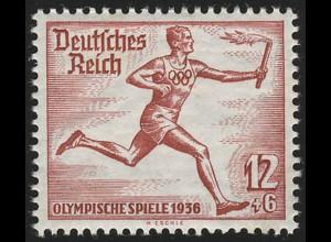 629 Sommerolympiade 12 Pf Fackeläufer aus Block **