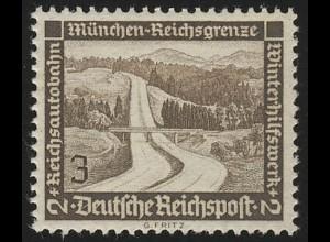 634 Winterhilfswerk Reichsautobahn 3 Pf **