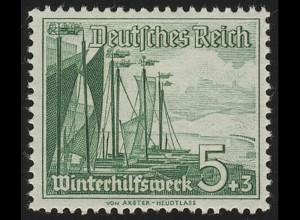 653 Winterhilfswerk Schiffe 5+3 Pf **