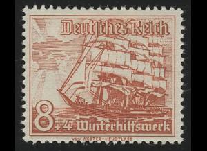 655 Winterhilfswerk Schiffe 8+4 Pf **