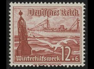 656 Winterhilfswerk Schiffe 12+6 Pf **