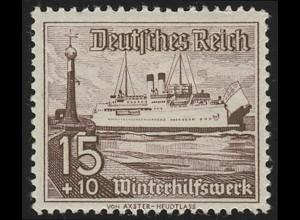 657 Winterhilfswerk Schiffe 15+10 Pf **