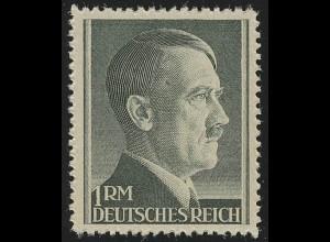 799A Hitler 1 Reichsmark ** postfrisch - WEIT gezähnt