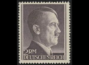 800A Hitler 2 Reichsmark ** WEIT gezähnt
