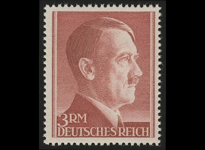 801B Hitler 3 Reichsmark ** ENG gezähnt