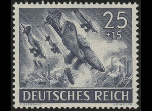 839x Tag der Wehrmacht / Heldengedenktag Stuka Ju 87 25 Pf **