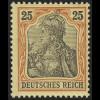 73 Germania 25 Pf. Deutsches Reich ohne WZ, * Falz