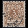 45d Krone/Adler 3 Pf, O geprüft