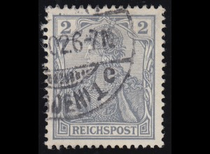 53 Germania 2 Pf. REICHSPOST, O gestempelt