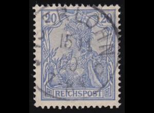 57 Germania 20 Pf. REICHSPOST, O