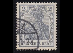 68 Germania 2 Pf. Deutsches Reich ohne WZ, O