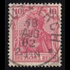 71 Germania 10 Pf. Deutsches Reich ohne WZ, O