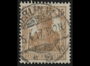 100a Germania 15 Pf braun O