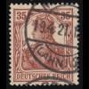 103b Germania 35 Pf rötlichbraun, O, geprüft