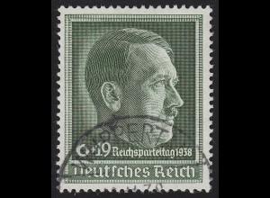 672x Reichsparteitag O gestempelt