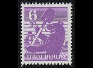 SBZ 2 Aa uy Berliner Bär 6 Pf, violett, **