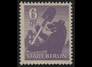 SBZ 2 Aa wb z Berliner Bär 6 Pf, violett, ** geprüft