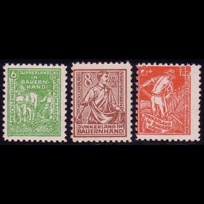 23-25b Bodenreform 1945, Farbe b, Satz ** postfrisch, alle geprüft Kramp BPP