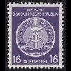 7x XII Dienst-A Zirkel 16 Pf. Wz.2X II, ** postfrisch