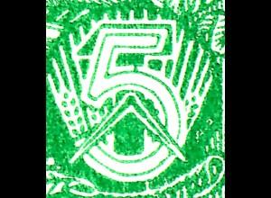 HBl. 7A-I aus MH 3 Fünfjahrplan, PLF Farbfleck am oberen Bogen der 5, Feld 2, **