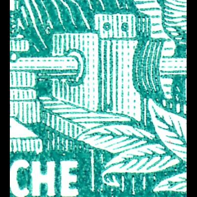 MH 3b1.16 Fünfjahrplan 1961 mit 2 PLF Farbpunkte je unten **