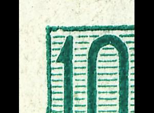 MH 3b2.41 Fünfjahrplan 1961, 4 PLF Loch im Haar, Rahmenkerbe, weiße Linien, **