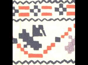 MH 5I/1a Trachten 1971/4 Ornamente mit DDFI und PLF Strich, Feld 3 **