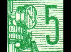 MH 3b1.4b Fünfjahrplan 1961, 4 PLF Aussparung, Fleck, Farbpunkte, R defekt **
