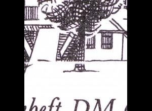 MH 10 Erfurt 1990 Naht fluoreszierend, DDF I gebrochener Baumstamm, **