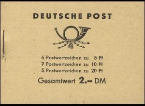 MH 3a1 Fünfjahrplan 1960 Klammer 17 mm, postfrisch