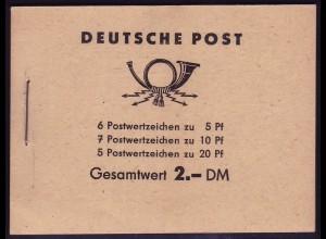 MH 3a2 Fünfjahrplan 1960 Klammer 17 mm, postfrisch