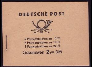 MH 3a2 Fünfjahrplan 1960 Klammer 14 mm, postfrisch