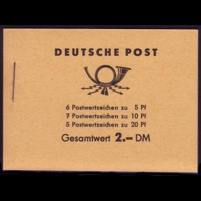 MH 3b1.26 Fünfjahrplan 1961, 5 PLF: Brüche, Kerbe, Fleck in 5, Farbausfüllung **