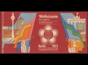 MH 7/1 Weltfestspiele 1973 - postfrisch
