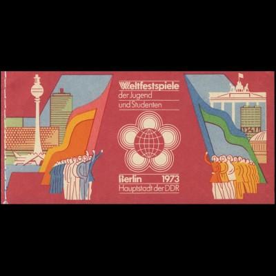 MH 7/2 Weltfestspiele 1973 - postfrisch