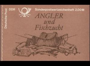 MH 9w1 Süßwasserfische 1988 - PLF Punkt unter dem R von DDR, Feld 3, **