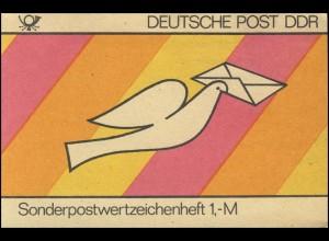 SMHD 18 Brieftaube 1985 mit Abart Deckelhöhe 73 mm statt 69 mm, **