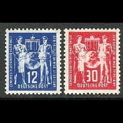 243-244 Postgewerkschaft 1949, Satz postfrisch **