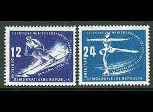246-247 Wintersport 1950, Satz ** postfrisch