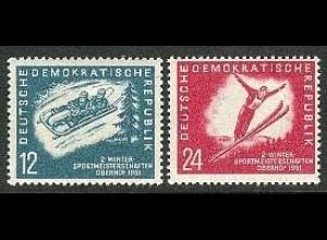 280-281 Wintersport 1951, Satz postfrisch **