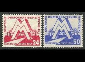 282-283 Leipziger Messe von 1951, Satz postfrisch **