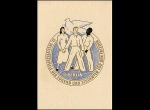 DDR 289-292 Weltfestspiele Jugend und Studenten 1951 - amtl. Faltkarte