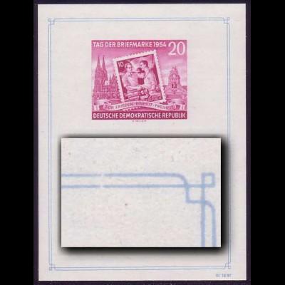 Bl.10II Ausstellung 1954 mit PLF II - Bruch beider Rahmenlinien, postfrisch **