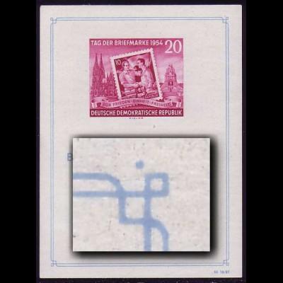 Bl.10III Ausstellung 1954 mit PLF III Fleck oben rechts, Type 1, **