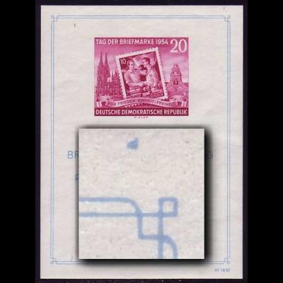 Bl.10III Ausstellung 1954 mit PLF III Fleck oben rechts, Type 2, **