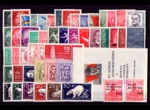 510-558 DDR-Jahrgang 1956 komplett, postfrisch ** / MNH