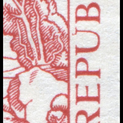 544IX T.d.B. 1956 mit PLF IX roter Strich am U in REPUBLIK, Feld 9, **