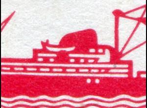 559I Leipziger Messe 20 Pf: roter Fleck unter dem Beiboot, Feld 48 **